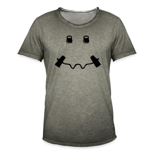 Happy dumb-bell - Mannen Vintage T-shirt