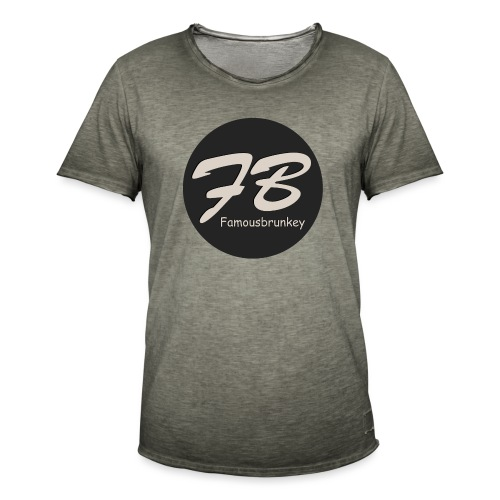 TSHIRT-FAMOUSBRUNKEY - Mannen Vintage T-shirt