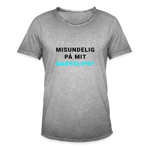 Babyslips - Herre vintage T-shirt