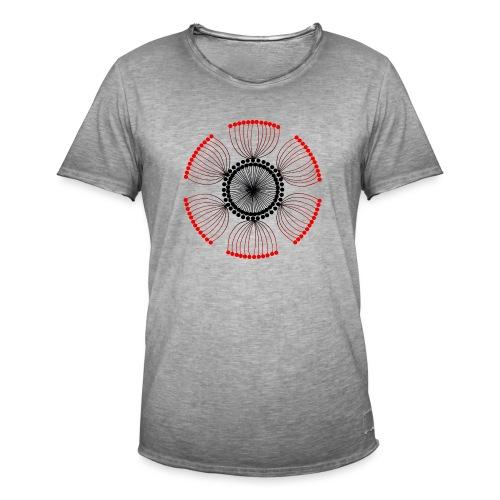Red Poppy Seeds Mandala - Men's Vintage T-Shirt