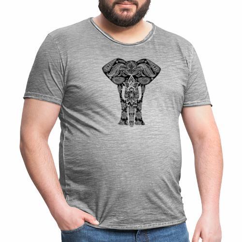 Ażurowy słoń - Koszulka męska vintage