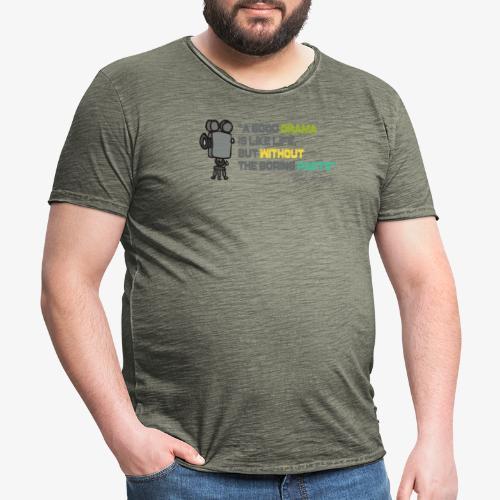 Pasión por el cine - Camiseta vintage hombre