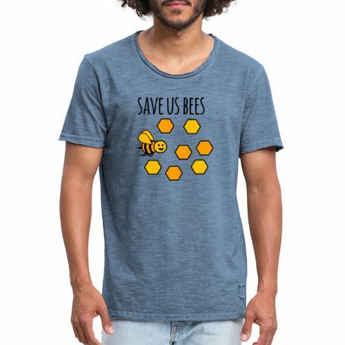 save us bees 2 - Men's Vintage T-Shirt