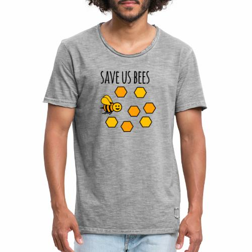 save us bees 2 - Men's Vintage T-Shirt
