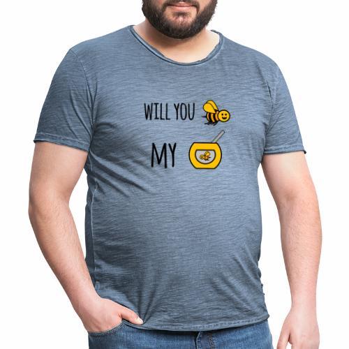 Will you bee my honey - Men's Vintage T-Shirt