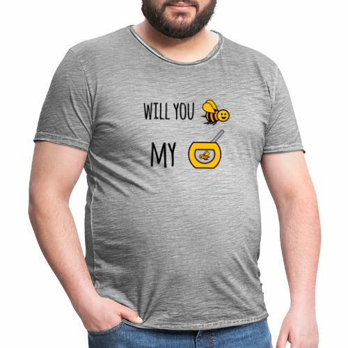 Will you bee my honey - Men's Vintage T-Shirt