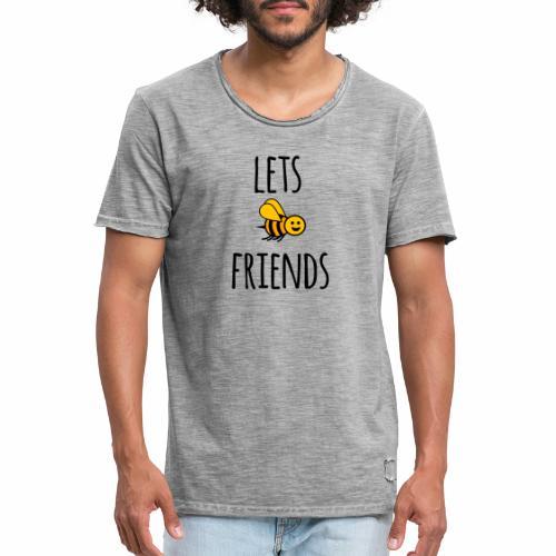 Lets bee friends - Men's Vintage T-Shirt