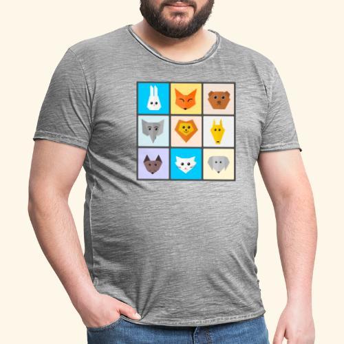 animales dibujos - Camiseta vintage hombre