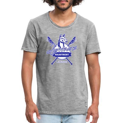Llamas - Maastricht Lacrosse - Blauw - Mannen Vintage T-shirt