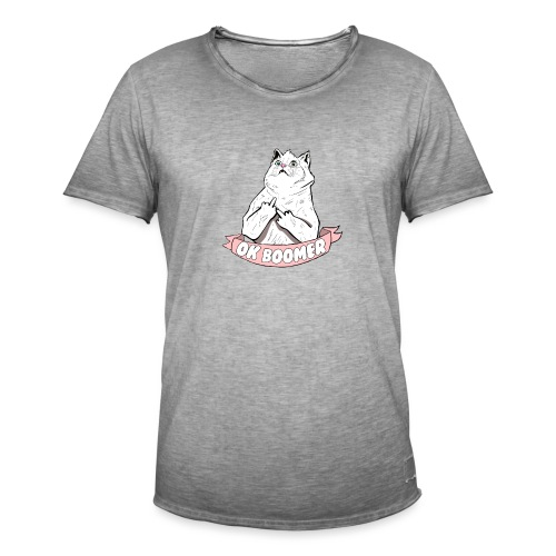 OK Boomer Cat Meme - Men's Vintage T-Shirt