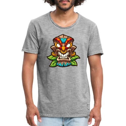Tiki Mask - Koszulka męska vintage