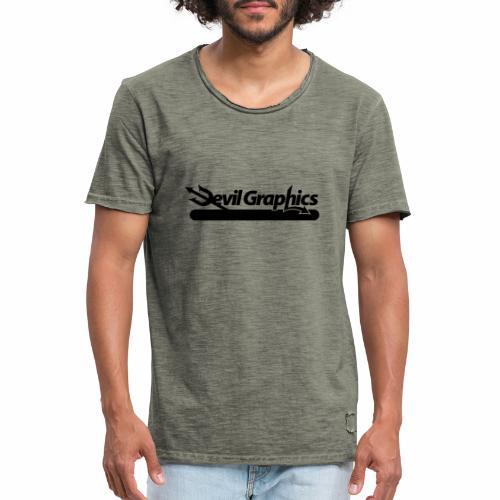 Black Devil Graphics - Männer Vintage T-Shirt