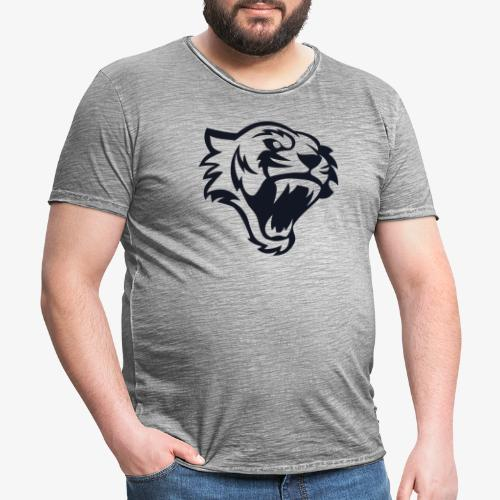 Tete tigre 300dpi noir - T-shirt vintage Homme