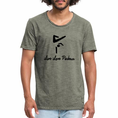 Black Live Love Parkour - Männer Vintage T-Shirt