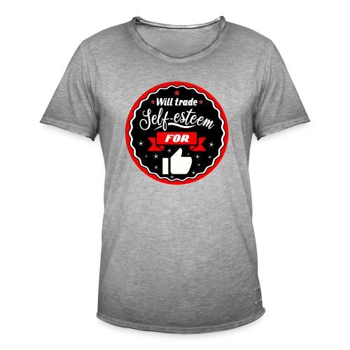 Swap self-esteem for likes (inches) - Men's Vintage T-Shirt