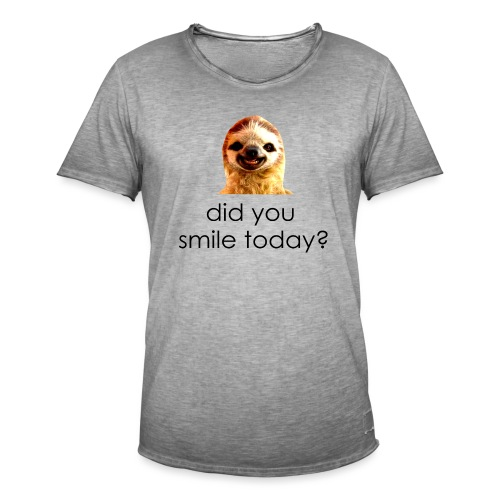 did you smile today? - Herre vintage T-shirt