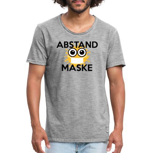 Mit Abstand und Maske gegen CORONA Virus - schwarz - Männer Vintage T-Shirt