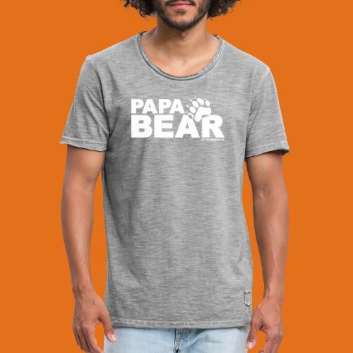 papa bear new - Men's Vintage T-Shirt