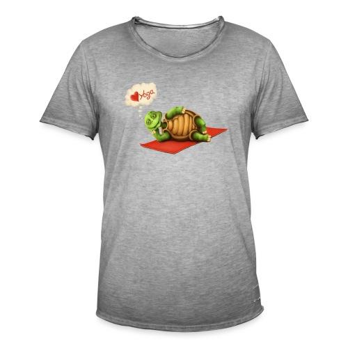 Love-Yoga Turtle - Männer Vintage T-Shirt