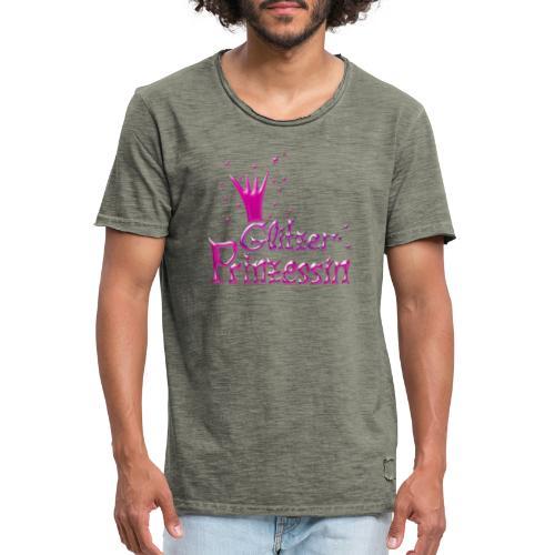 Rosa Glitzer Prinzessin - Männer Vintage T-Shirt