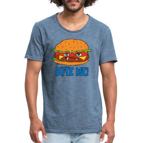 Bite me! - Maglietta vintage da uomo