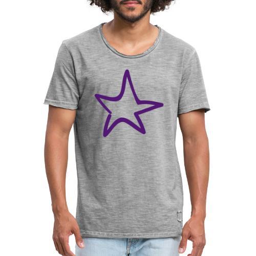 Star Outline Pixellamb - Männer Vintage T-Shirt
