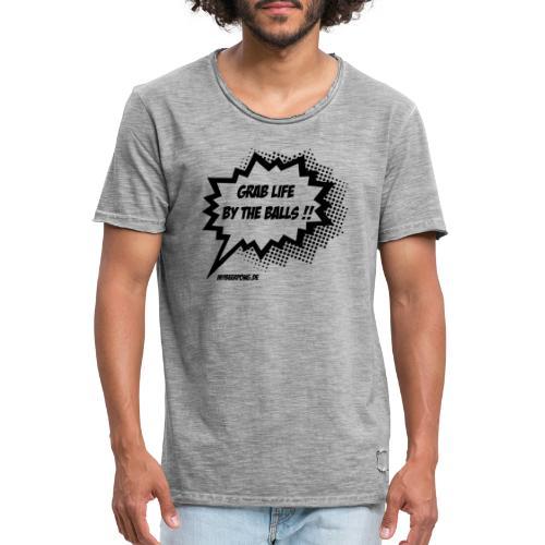 Das Leben an den Eiern packen MBP Logo - Männer Vintage T-Shirt