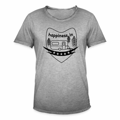 Happy Camper - Männer Vintage T-Shirt