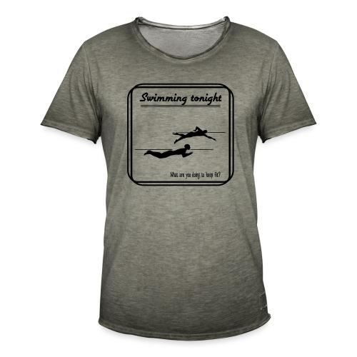 Swimming tonight - Miesten vintage t-paita