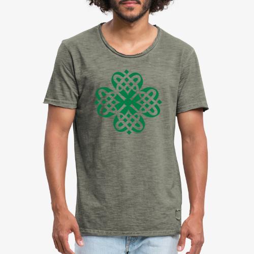 Shamrock Celtic knot decoration patjila - Men's Vintage T-Shirt