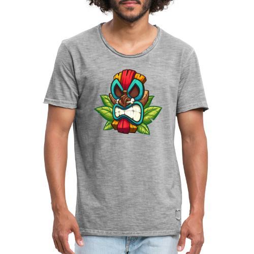 Tiki Mask Bone - Koszulka męska vintage