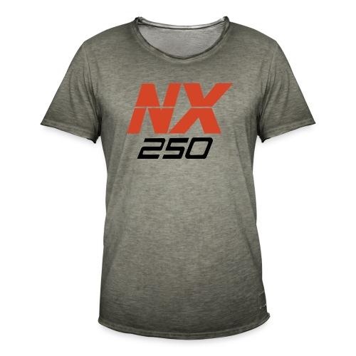 nx250 logo transparant - Mannen Vintage T-shirt