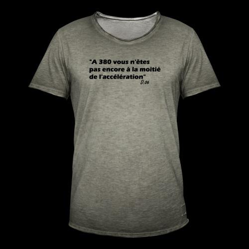 380 noir - T-shirt vintage Homme