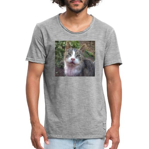 Katze Max - Männer Vintage T-Shirt
