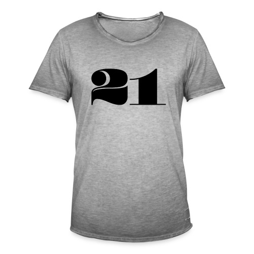 21 - TWENTY ONE - Men's Vintage T-Shirt