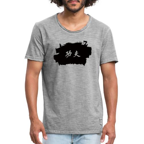 Tinte Kung Fu - Männer Vintage T-Shirt