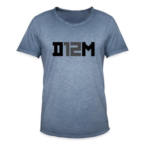 D12M: SHORT BLACK - Mannen Vintage T-shirt