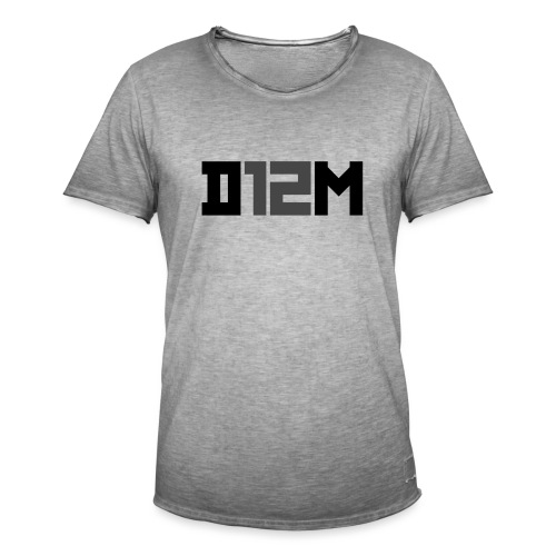 D12M: SHORT BLACK - Mannen Vintage T-shirt