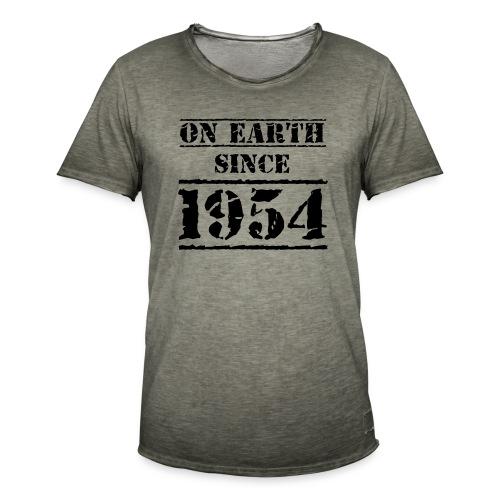 on Earth since 1954 65 Geburtstag Happy Birthday - Men's Vintage T-Shirt