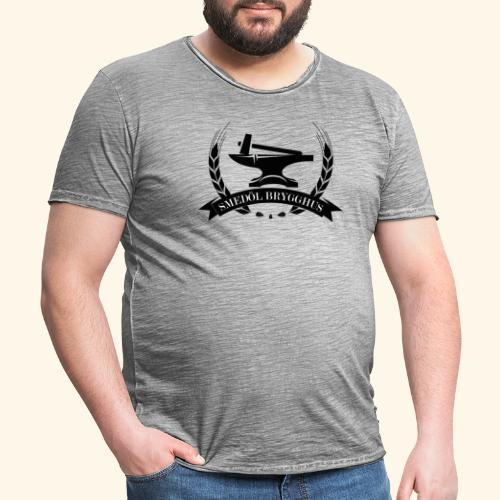 Smedöl Brygghus Logga Svart - Vintage-T-shirt herr