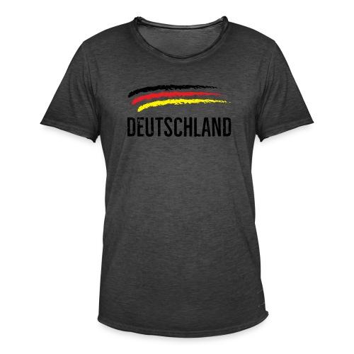 Deutschland, Flag of Germany - Men's Vintage T-Shirt