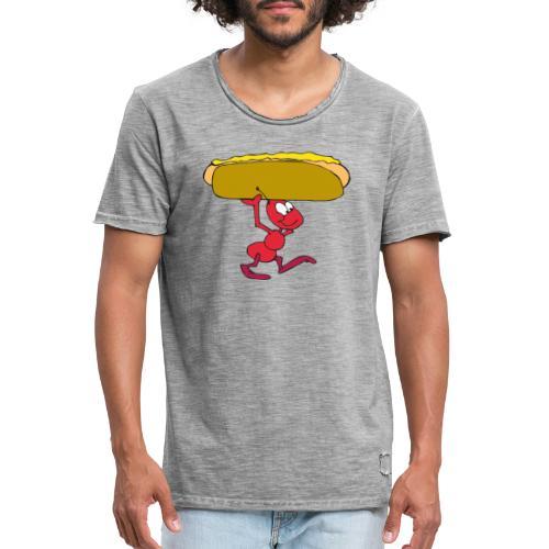 Hoddog+muurahainen - Miesten vintage t-paita