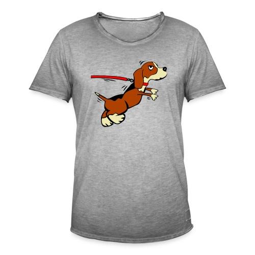 Kleiner Hund - Männer Vintage T-Shirt