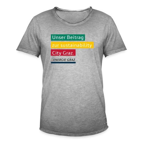 Energie Graz Vision - Männer Vintage T-Shirt