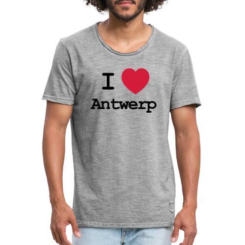 I love Antwerp - Mannen Vintage T-shirt