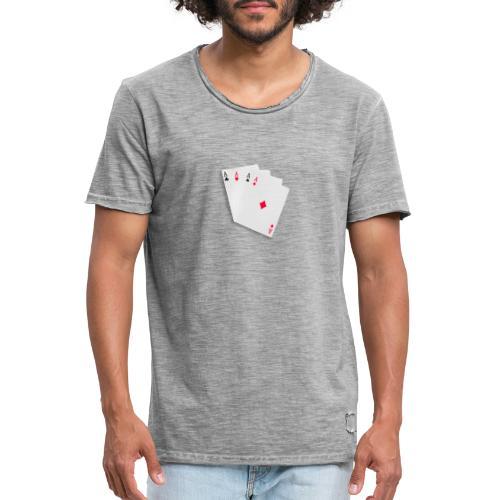 Poker cards - Maglietta vintage da uomo