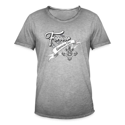 Forever American Cars - Vintage-T-shirt herr