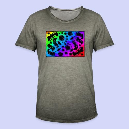 Rainbow doodle - Female shirt - Herre vintage T-shirt