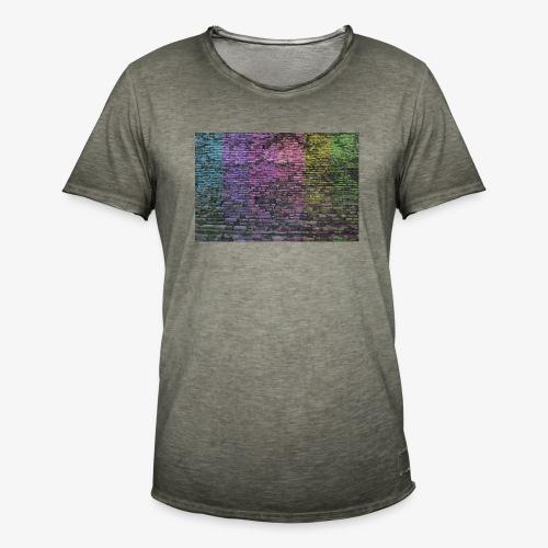 Regenbogenwand - Männer Vintage T-Shirt