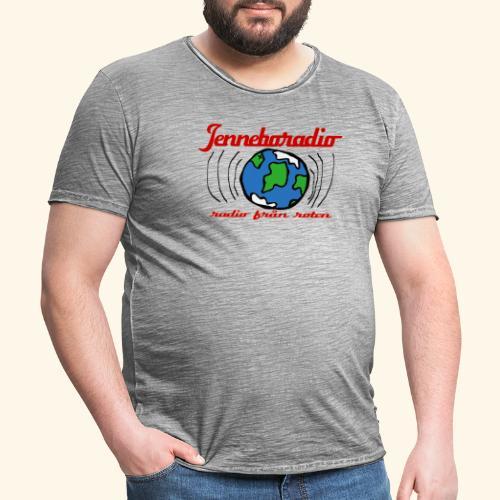 Jenneboradio -Sveriges minsta radiostation - Vintage-T-shirt herr